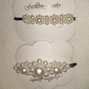 (2 for 12) pearl style hair pins